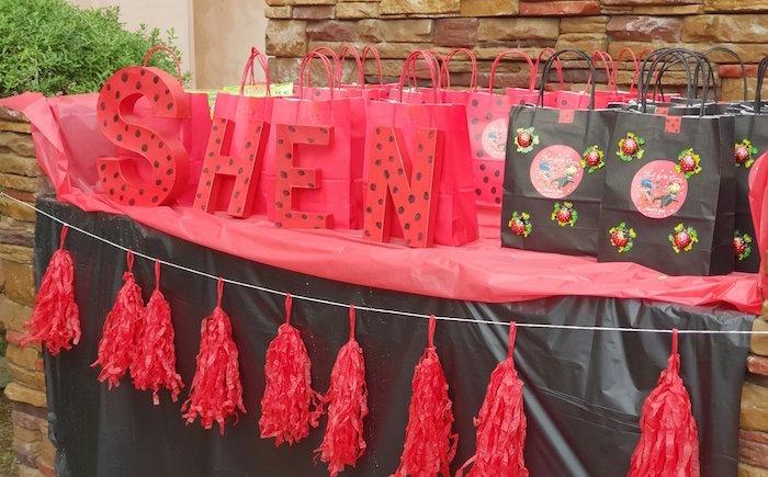 Ladybug Favor Table from a Miraculous Ladybug Birthday Party on Kara's Party Ideas | KarasPartyIdeas.com (9)
