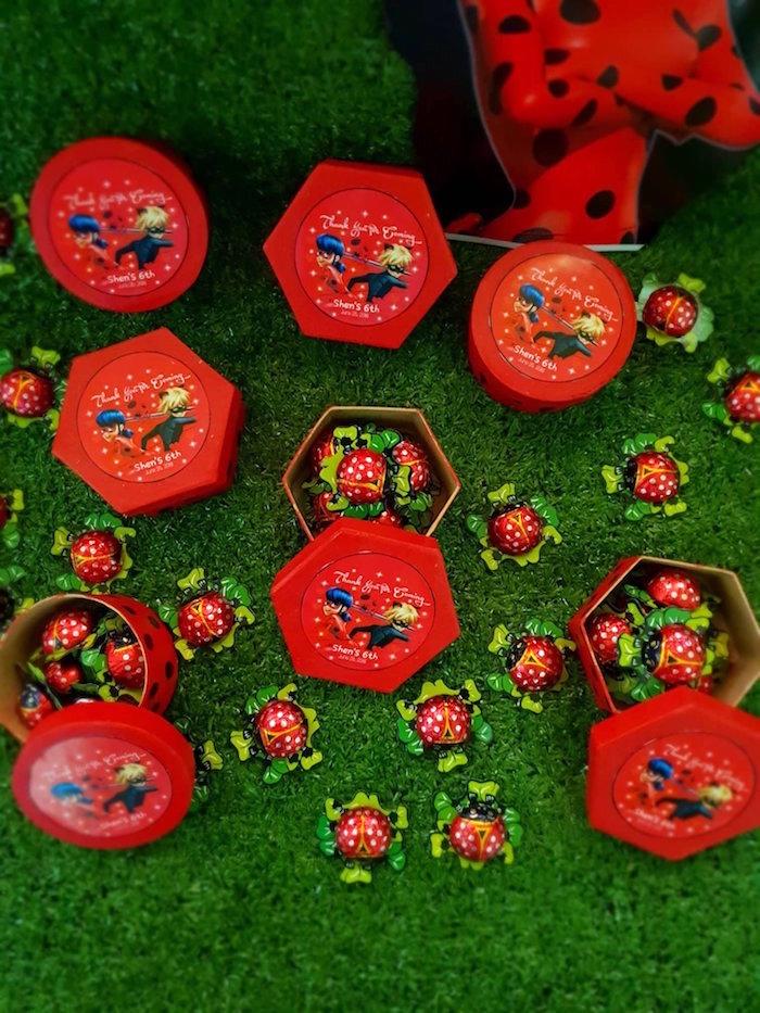Miraculous Ladybug Favor Boxes from a Miraculous Ladybug Birthday Party on Kara's Party Ideas | KarasPartyIdeas.com (5)