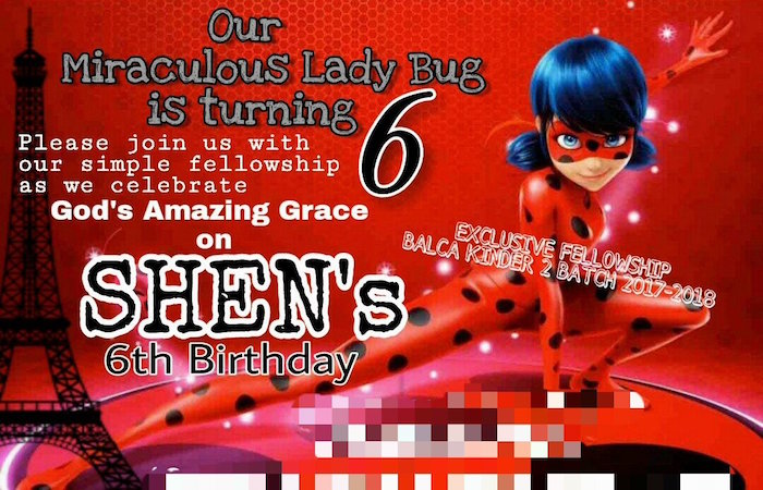 Miraculous Ladybug Party Invite from a Miraculous Ladybug Birthday Party on Kara's Party Ideas | KarasPartyIdeas.com (21)