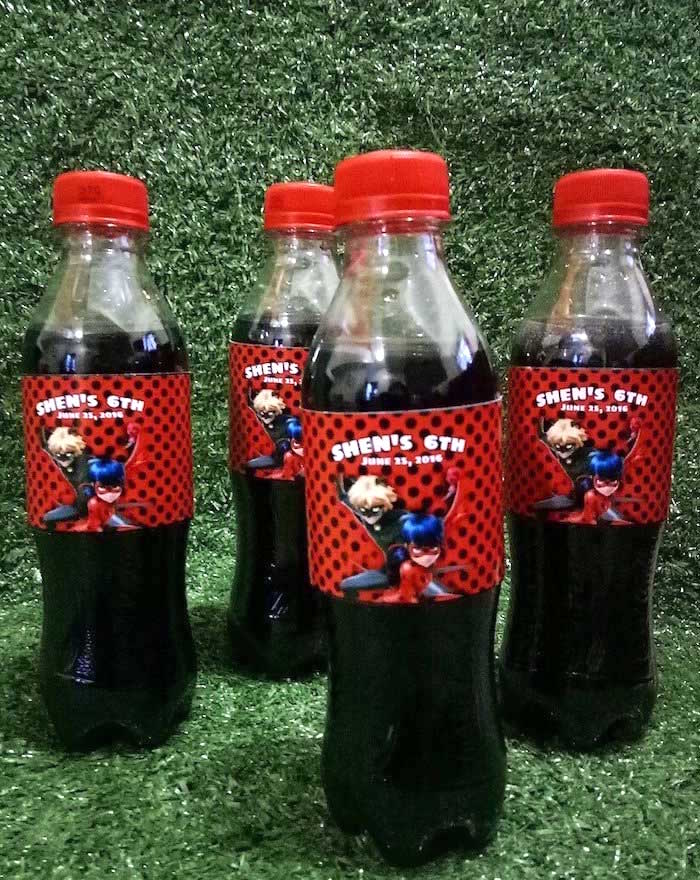 Miraculous Ladybug Drink Labels from a Miraculous Ladybug Birthday Party on Kara's Party Ideas | KarasPartyIdeas.com (17)