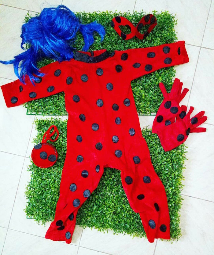 Miraculous Ladybug Costume from a Miraculous Ladybug Birthday Party on Kara's Party Ideas | KarasPartyIdeas.com (16)
