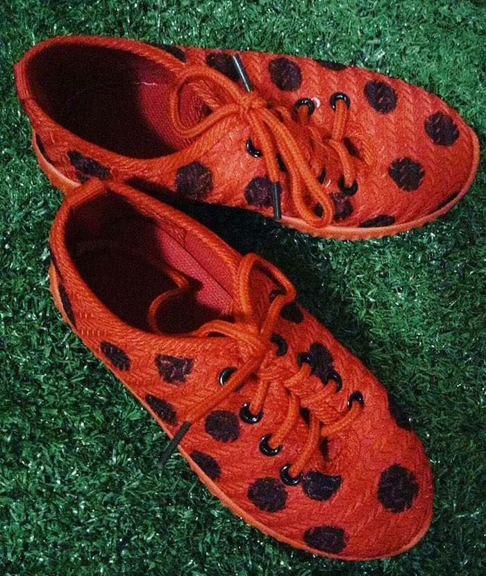 Ladybug-inspired Shoes from a Miraculous Ladybug Birthday Party on Kara's Party Ideas | KarasPartyIdeas.com (15)