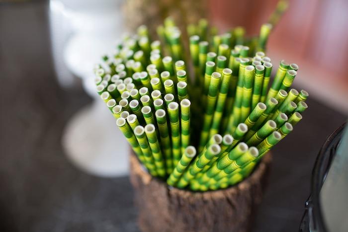 Jungle Straws from a Moana Inspired Birthday Luau on Kara's Party Ideas | KarasPartyIdeas.com (18)