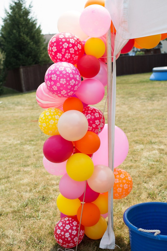 Tropical Balloon Garland from a Moana Inspired Birthday Luau on Kara's Party Ideas | KarasPartyIdeas.com (13)