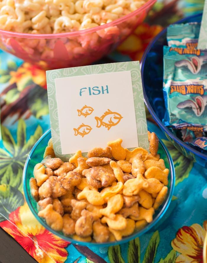 Goldfish Snacks from a Moana Inspired Birthday Luau on Kara's Party Ideas | KarasPartyIdeas.com (11)
