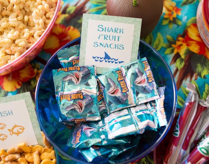 Shark Fruit Snacks from a Moana Inspired Birthday Luau on Kara's Party Ideas | KarasPartyIdeas.com (10)