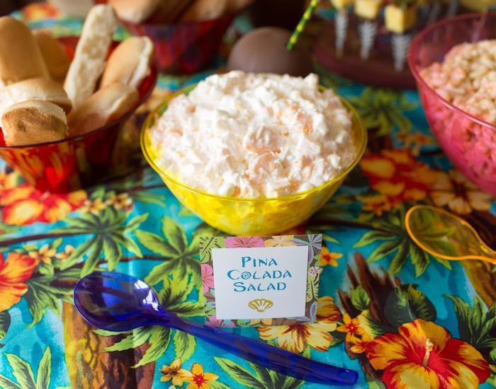 Pina Colada Salad from a Moana Inspired Birthday Luau on Kara's Party Ideas | KarasPartyIdeas.com (9)