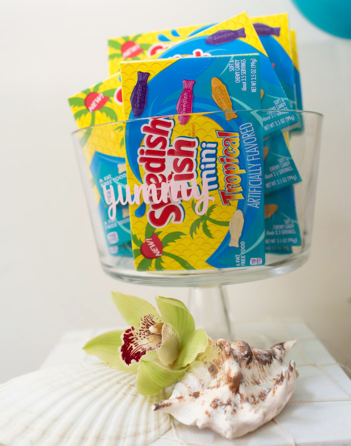 Swedish Fish Boxes from a Moana Inspired Birthday Luau on Kara's Party Ideas | KarasPartyIdeas.com (7)