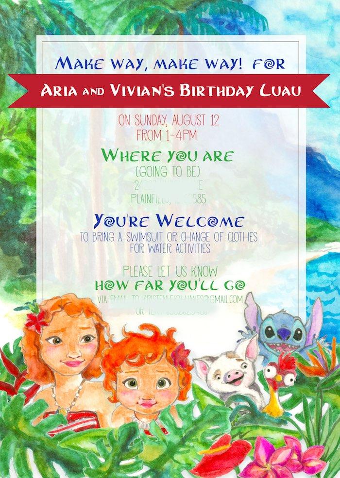 Tropical Disney-inspired Party Invite from a Moana Inspired Birthday Luau on Kara's Party Ideas | KarasPartyIdeas.com (3)