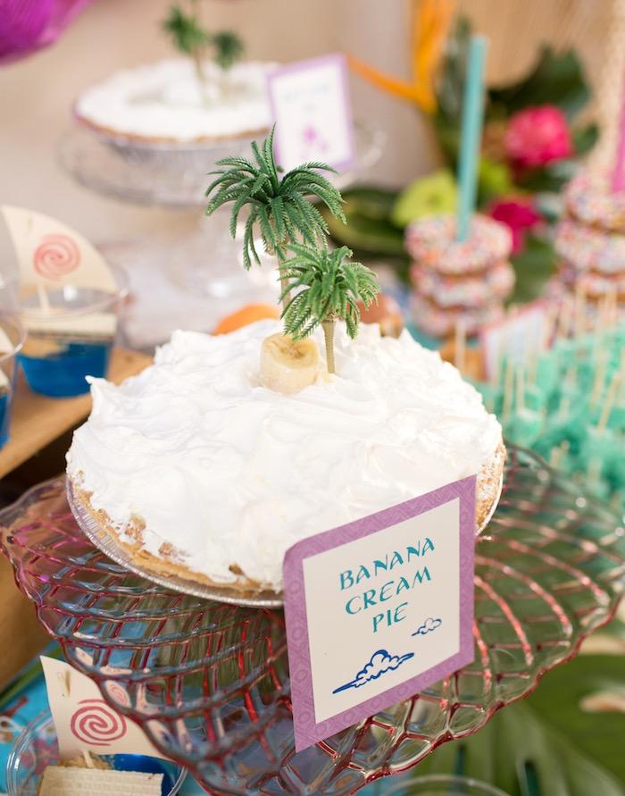 Banana Cream Pie from a Moana Inspired Birthday Luau on Kara's Party Ideas | KarasPartyIdeas.com (31)