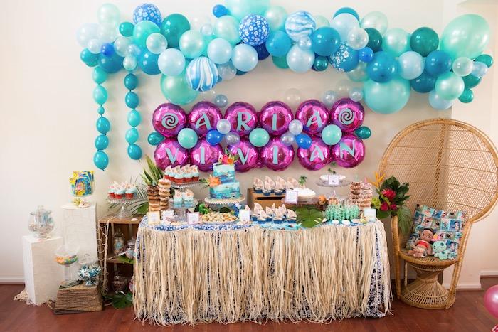 Moana-inspired Dessert Table from a Moana Inspired Birthday Luau on Kara's Party Ideas | KarasPartyIdeas.com (27)