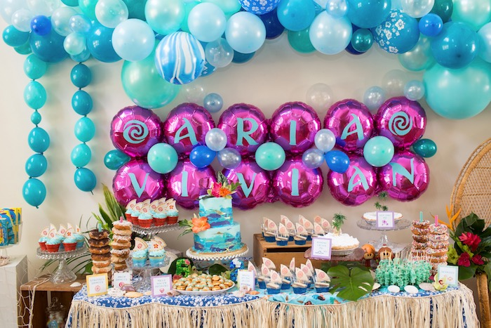Moana-inspired Dessert Table from a Moana Inspired Birthday Luau on Kara's Party Ideas | KarasPartyIdeas.com (26)