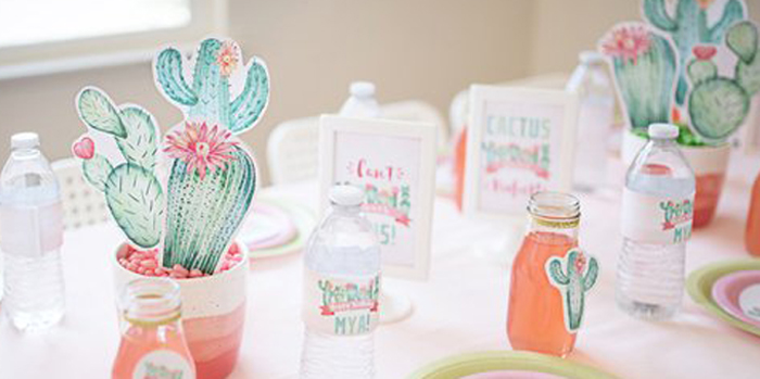 Pastel Cactus Party on Kara's Party Ideas | KarasPartyIdeas.com (2)