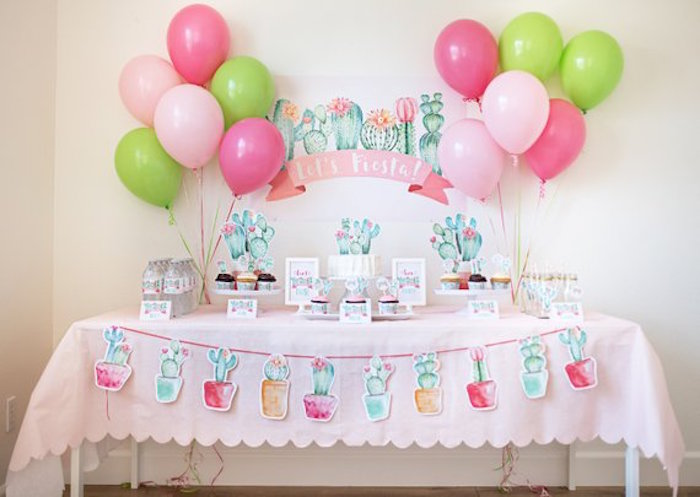 Cactus Themed Dessert Table from a Pastel Cactus Party on Kara's Party Ideas | KarasPartyIdeas.com (9)
