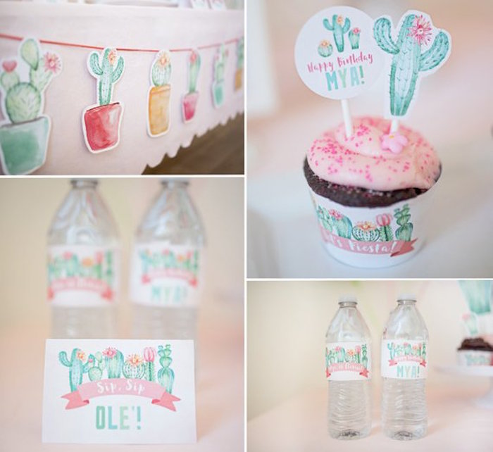 Cactus Party Signage from a Pastel Cactus Party on Kara's Party Ideas | KarasPartyIdeas.com (8)