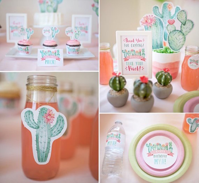 Cactus Party Elements from a Pastel Cactus Party on Kara's Party Ideas | KarasPartyIdeas.com (7)