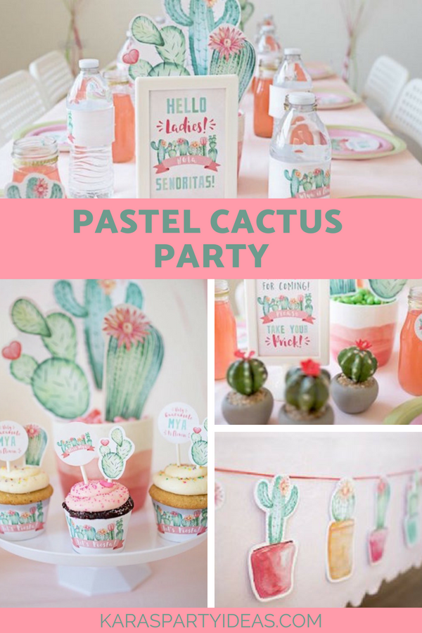 Pastel Cactus Party via Kara's Party Ideas - KarasPartyIdeas.com