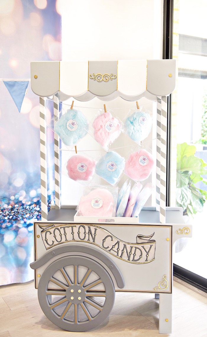Cotton Candy Cart from a Pastel Carnival Birthday Party on Kara's Party Ideas | KarasPartyIdeas.com (11)