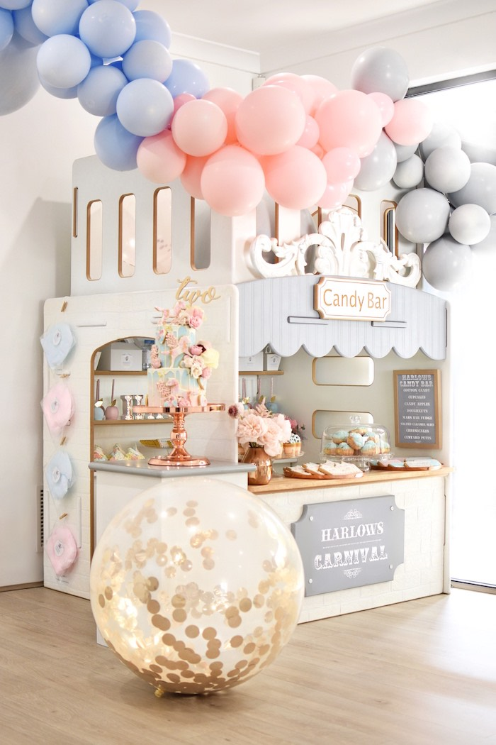 Carnival Candy Bar from a Pastel Carnival Birthday Party on Kara's Party Ideas | KarasPartyIdeas.com (7)