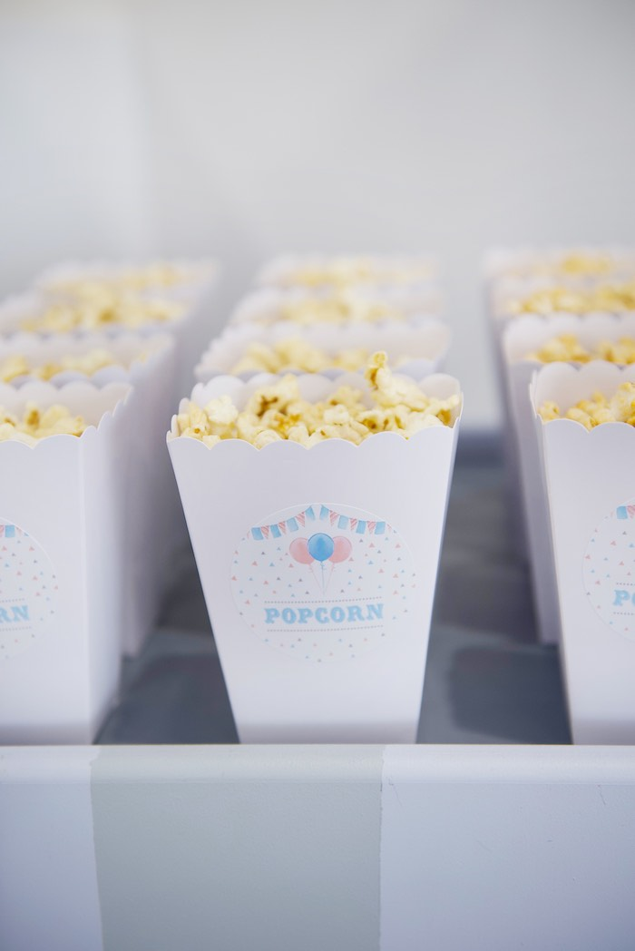 Popcorn Boxes from a Pastel Carnival Birthday Party on Kara's Party Ideas | KarasPartyIdeas.com (3)