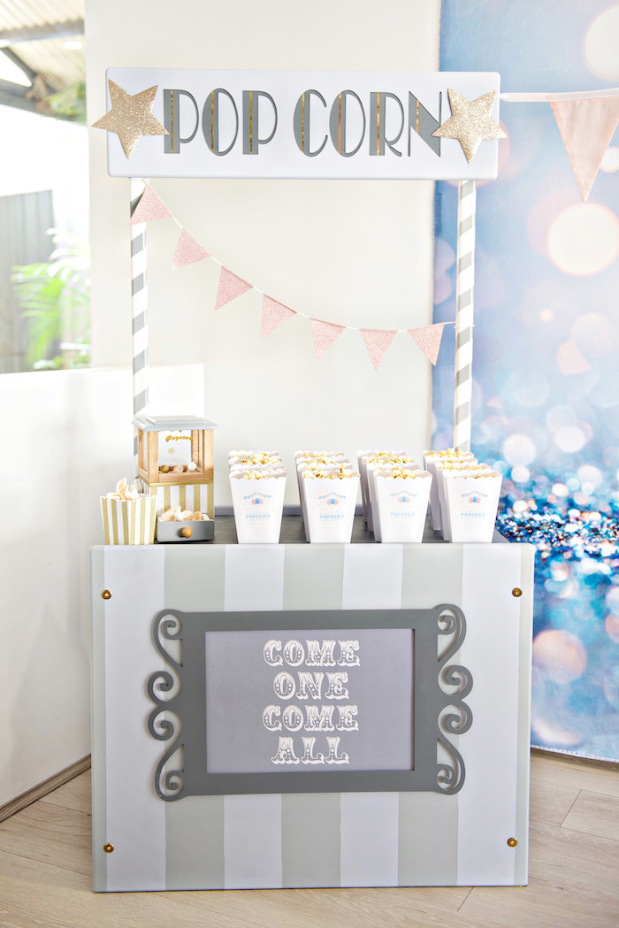 Hot Dog Stand from a Pastel Carnival Birthday Party on Kara's Party Ideas | KarasPartyIdeas.com (19)