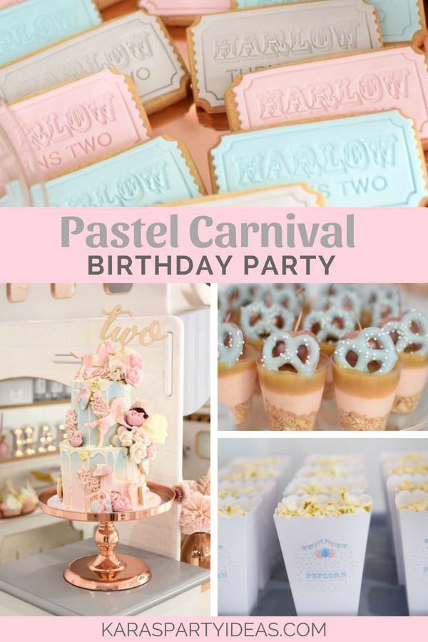 Pastel Carnival Birthday Party via Kara's Party Ideas - KarasPartyIdeas.com