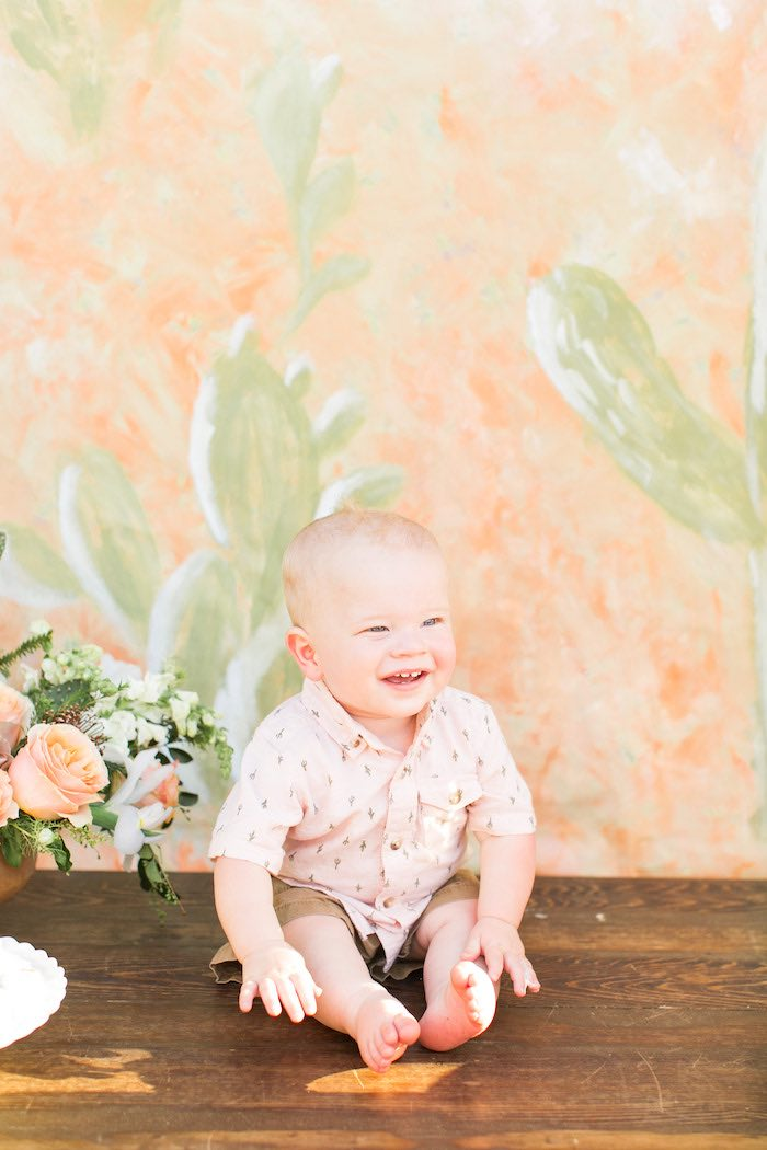 Peachy Prickly 1st Birthday Party on Kara's Party Ideas | KarasPartyIdeas.com (5)
