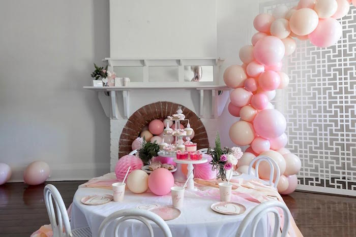 Pink + White Ballerina Birthday Party on Kara's Party Ideas | KarasPartyIdeas.com (10)