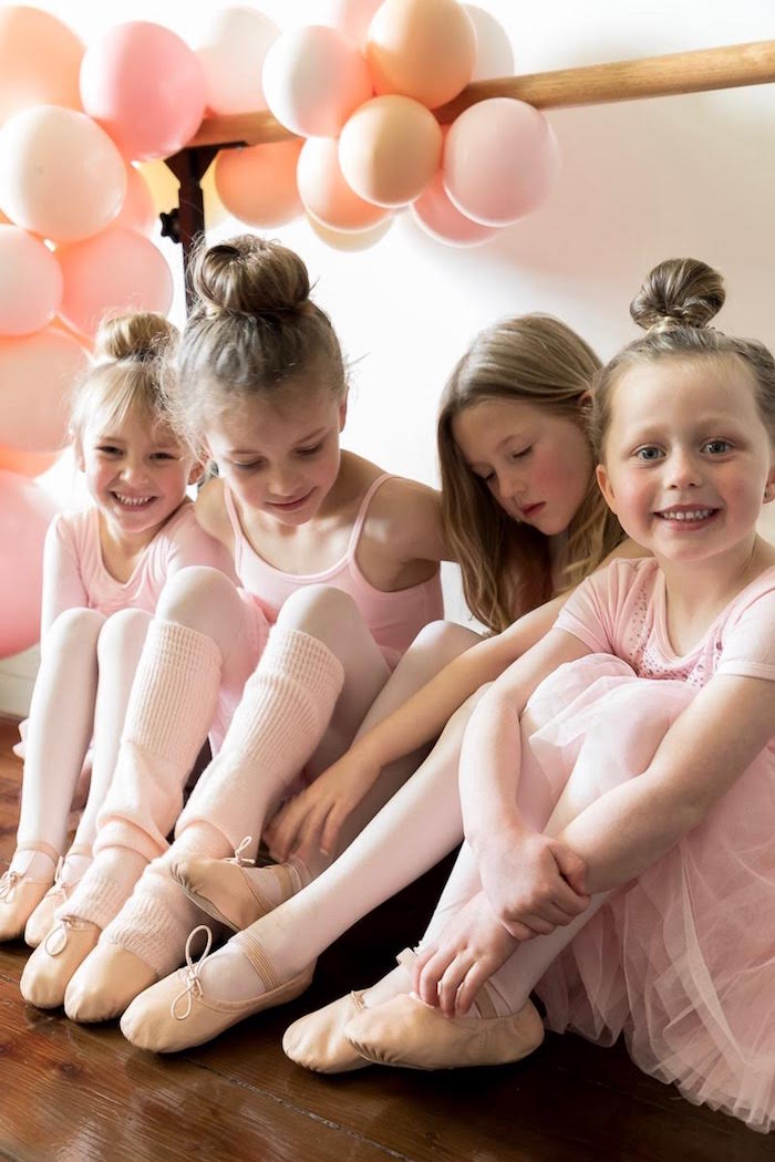 Little Ballerinas from a Pink + White Ballerina Birthday Party on Kara's Party Ideas | KarasPartyIdeas.com (8)