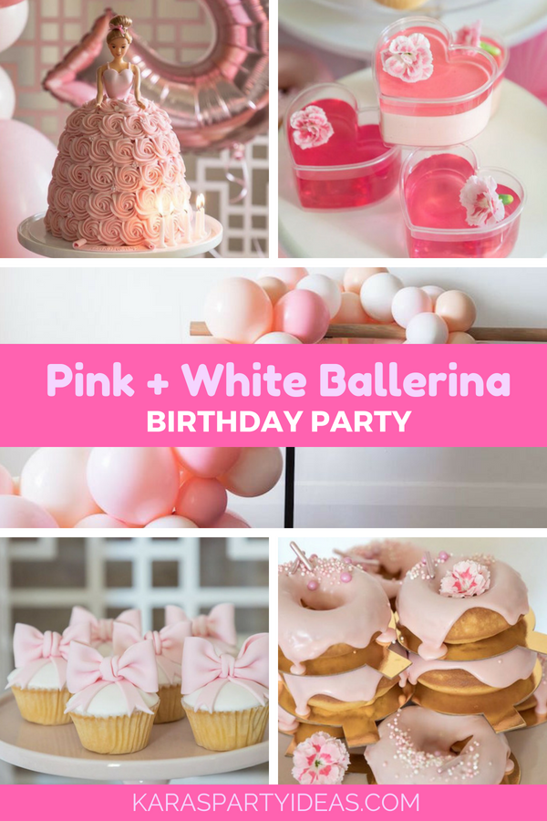 Pink + White Ballerina Birthday Party via Kara's Party Ideas - KarasPartyIdeas.com