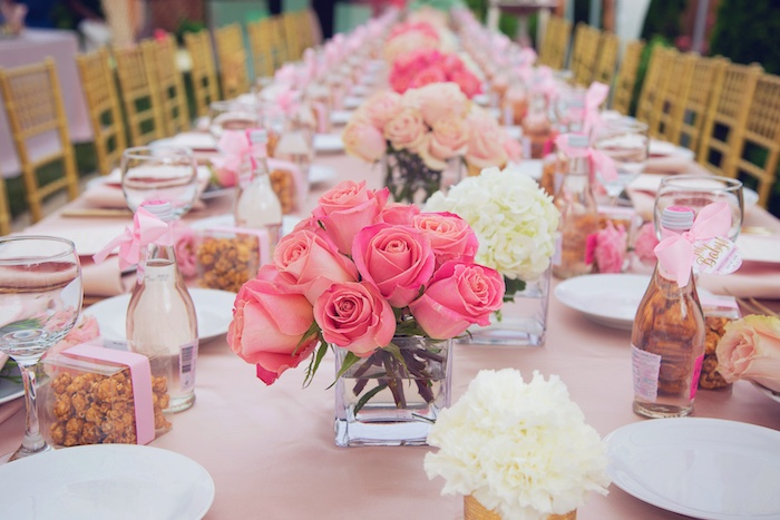 Pink Roses + Blooms from a Pretty in Pink Glam Baby Shower on Kara's Party Ideas | KarasPartyIdeas.com (12)