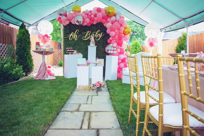Pretty in Pink Glam Baby Shower on Kara's Party Ideas | KarasPartyIdeas.com (11)