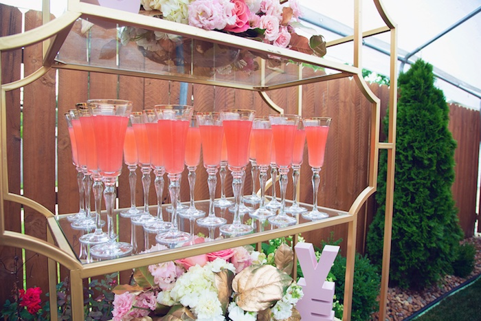 Drinks from a Pretty in Pink Glam Baby Shower on Kara's Party Ideas | KarasPartyIdeas.com (9)