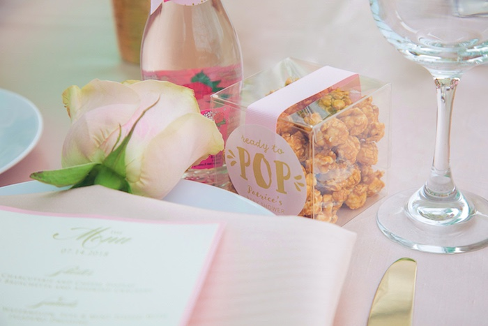 Popcorn Favor Box from a Pretty in Pink Glam Baby Shower on Kara's Party Ideas | KarasPartyIdeas.com (7)