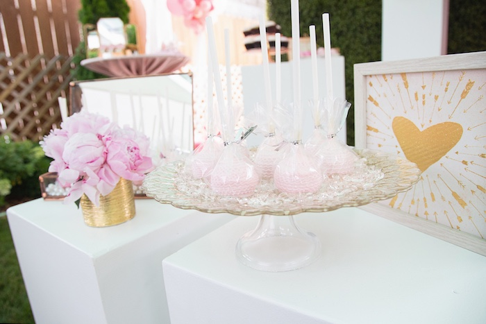 Baby Rattle Cake Pops from a Pretty in Pink Glam Baby Shower on Kara's Party Ideas | KarasPartyIdeas.com (22)