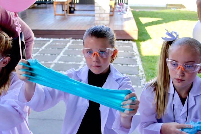 Slime Experiment from a Project Mc2 Inspired Girly Science Party on Kara's Party Ideas | KarasPartyIdeas.com (26)