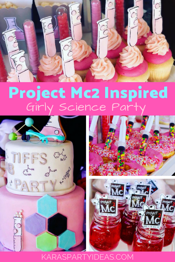Project Mc2 Inspired Girly Science Party via Kara's Party Ideas - KarasPartyIdeas.com