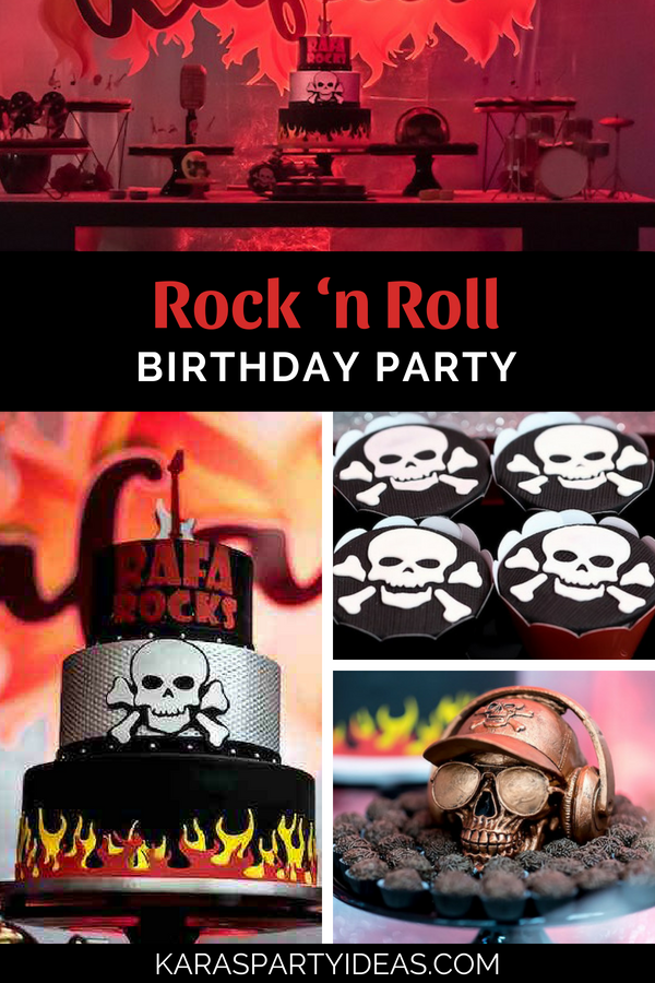 Rock 'n Roll Birthday Party via Kara's Party Ideas - KarasPartyIdeas.com