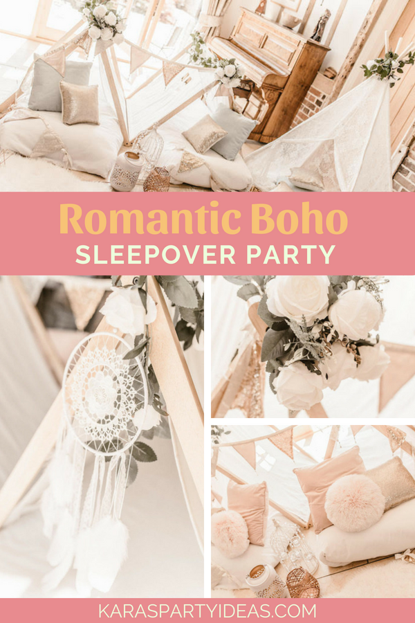 Romantic Boho Sleepover Party via Kara_s Party Ideas - KarasPartyIdeas.com