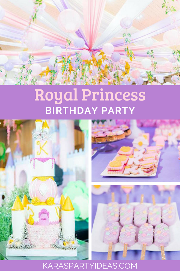 Royal Princess Birthday Party via Kara's Party Ideas - KarasPartyIdeas.com