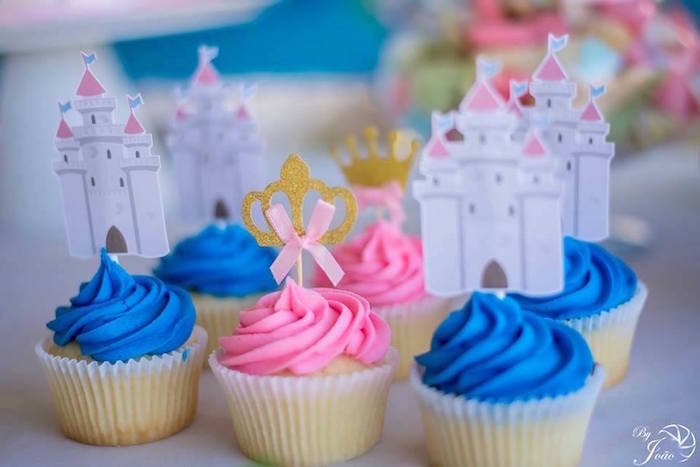 Royal Cupcakes from a Royal Princess & Knight Birthday Party on Kara's Party Ideas | KarasPartyIdeas.com (3)