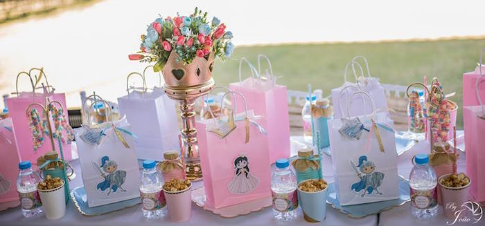 Royal Guest Table Settings from a Royal Princess & Knight Birthday Party on Kara's Party Ideas | KarasPartyIdeas.com (2)