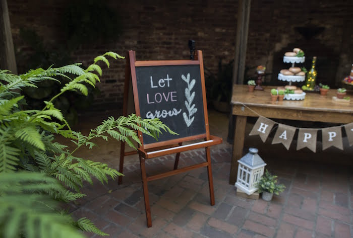 Let Love Grown Chalkboard Easel Sign from a Rustic Garden Birthday Party on Kara's Party Ideas | KarasPartyIdeas.com (17)