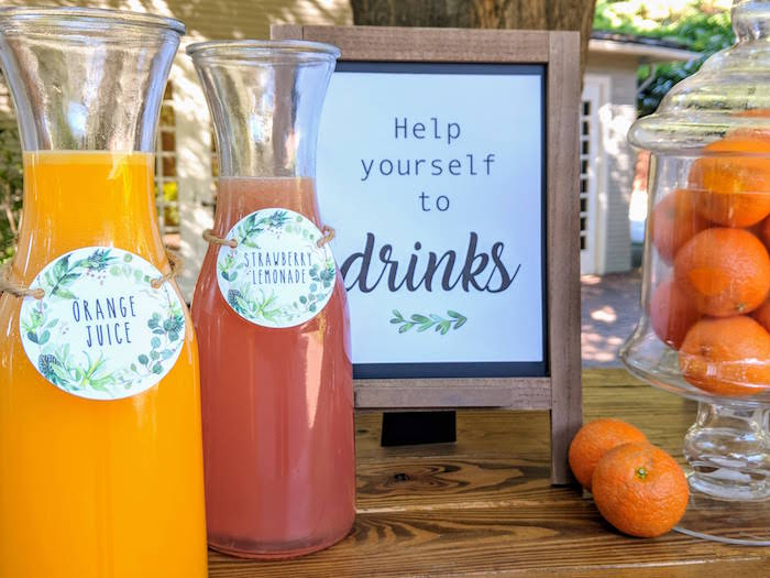 Drinks/Signage from a Rustic Garden Birthday Party on Kara's Party Ideas | KarasPartyIdeas.com (14)