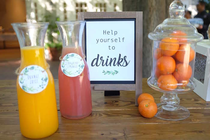 Drinks from a Rustic Garden Birthday Party on Kara's Party Ideas | KarasPartyIdeas.com (11)