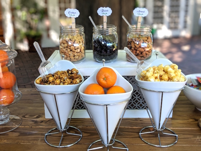 Snack Bar from a Rustic Garden Birthday Party on Kara's Party Ideas | KarasPartyIdeas.com (24)