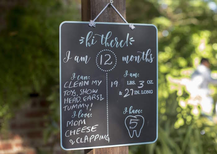 Chalkboard Sign from a Rustic Garden Birthday Party on Kara's Party Ideas | KarasPartyIdeas.com (23)