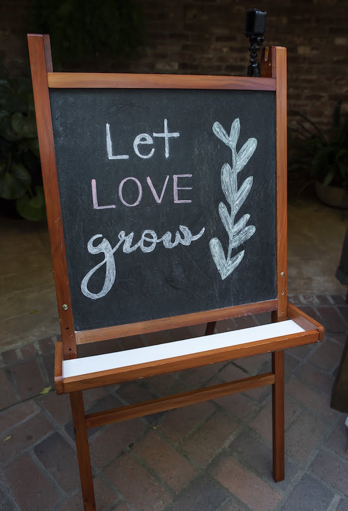 Let Love Grown Chalkboard Easel Sign from a Rustic Garden Birthday Party on Kara's Party Ideas | KarasPartyIdeas.com (19)