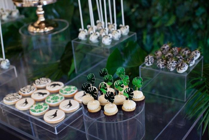 Safari-inspired Dessert Table from a Safari Wild One Birthday Party on Kara's Party Ideas | KarasPartyIdeas.com (20)