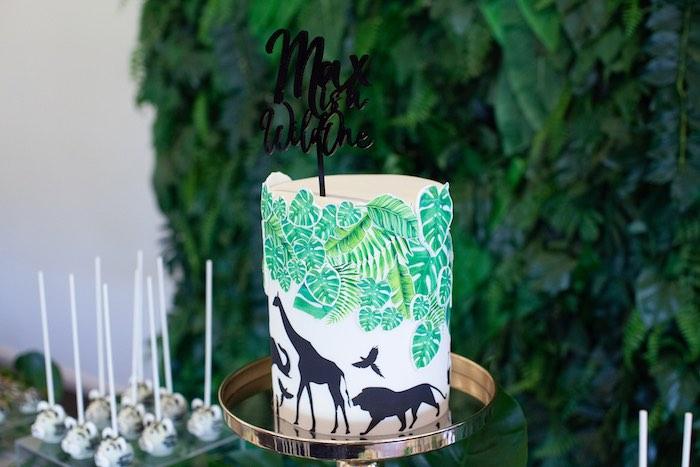 Jungle Safari Cake from a Safari Wild One Birthday Party on Kara's Party Ideas | KarasPartyIdeas.com (19)